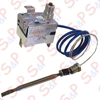 SAFETY THERMOSTAT 240° SINGLE PHASE PROBE Ø=5X72 mm CAPILLARY 600mm